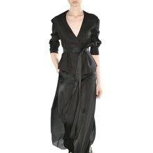 tobebery2019春装新款女装欧美V领时尚套装裙修身显瘦长袖两件套