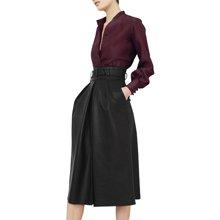 tobebery2019春装新款女气质皮裙衬衫时尚半身裙子套装两件套春季