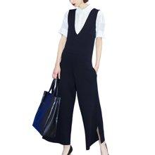 tobebery欧美2019春装新款气质职业衬衫两件套时尚阔腿裤套装女