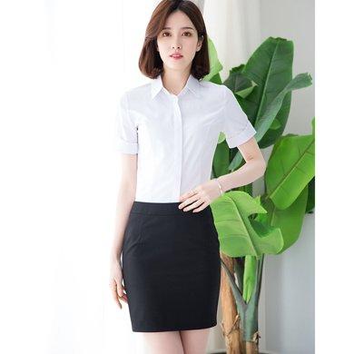 億族 夏季新款簡約翻領短袖襯衫+OL百搭半身裙女套裙職業裝