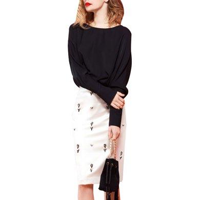 tobebery包臀裙子套裝女2020春季新款高腰中裙半身裙洋氣兩件套