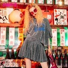 妖精的口袋Y俏皮套装夏装2018新款露背心机亮丝欧洲站时尚套装女J