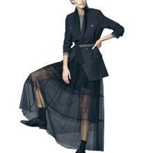 tobebery欧美新款气质外套半身裙套装2019春季时尚套装裙职业女装