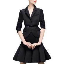tobebery2019春装新款ol修身显瘦西装两件套女荷叶边半身裙套装裙