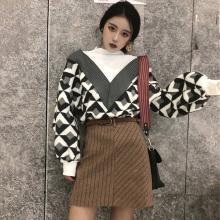 億族 秋冬裝新款小清新港味毛衣搭配短裙子兩件套女時尚軟妹套裝
