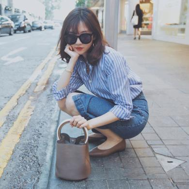 姝奕秋裝新款韓版氣質小香風套裝裙子長袖襯衫配裙子兩件套裝夏季HD3951