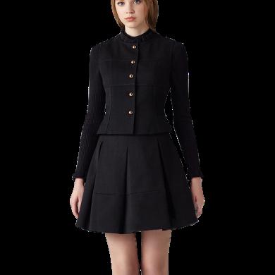 tobebery2020春秋新款套裝女歐洲站圓領長袖女裝修身顯瘦保暖