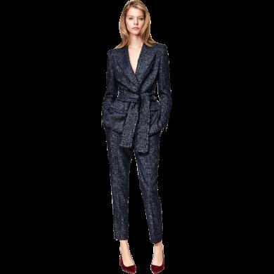 tobebery系帶西裝兩件套潮女裝2020春秋新款時尚歐美ol女職業套裝