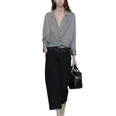 tobebery秋季套裝女時尚兩件套2019新款氣質寬松上衣闊腿褲潮