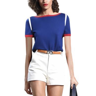 tobebery气质休?#34892;?#24515;机修身套装2019夏装新款时尚T恤短裤两件套