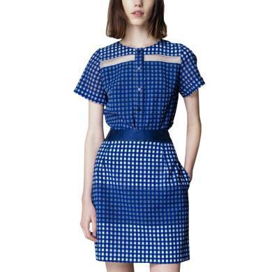 小個子套裝格子兩件套裙顯腿長歐洲站2019春夏女裝新款文藝范裙裝