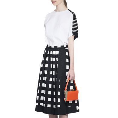 法式小眾兩件套洋氣減齡女秋季2019新款潮時尚格子氣質百褶裙套裝