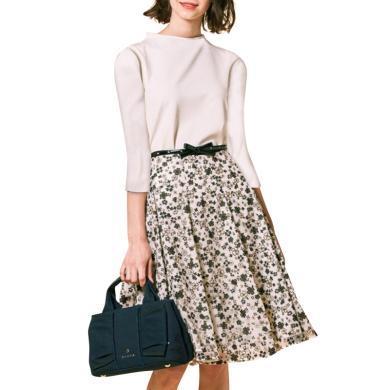 tobebery法式小眾矮個子套裝2020春季新款女白色上衣碎花半身裙洋氣兩件套