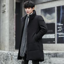 史克维斯中长款羽绒服男士冬季新款中国风立领潮流加厚保暖高领鸭绒外套Y8810YYS