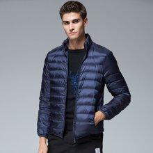 羽绒服男士轻薄短款冬季修身羽绒衣纯色立领青年保暖冬装羽绒外套BD-18819