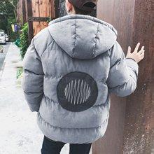 史克维斯冬季男士连帽加厚棉衣男韩版潮个性宽松男短款棉袄外套男青年棉服MH35