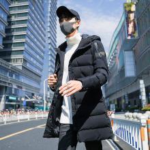 冬季新款棉衣男中长款修身加厚棉服韩版潮流男士帅气棉袄外套RK-9817