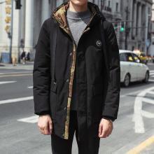 中长款外套男冬季新款韩冬衣潮流短款棉服棉袄冬装迷彩棉衣男RK-9819