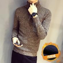 搭歌冬季潮男加绒加厚打底毛线衫男士修身高领毛衣男士针织衫DA247M123