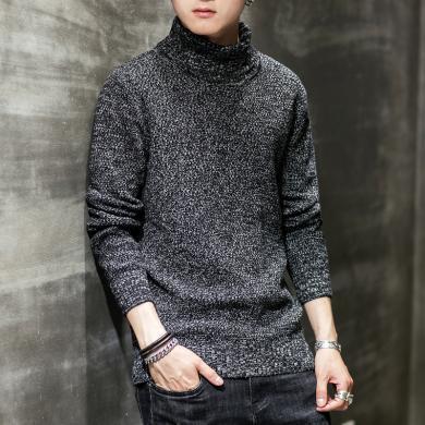 史克維斯秋冬季新款毛衣韓版修身潮流帥氣圓領男士針織衫休閑寬松套頭線衫Z1801qy