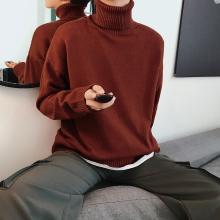 搭歌秋冬季新款韩版潮流宽松半高领线衣男士针织衫m01da115