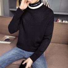 搭歌高领毛衣男加绒加厚新款冬季针织衫男韩版打底衫男式毛衣m655da247