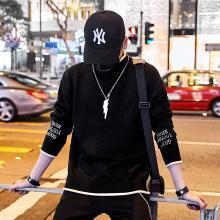 新款秋季毛衣男圆领针织衫学生韩版宽松潮流个性男士帅气线衣DWX-1905