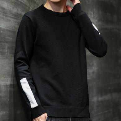 毛衣男士針織線衫保暖毛衣毛衣男士毛線衣潮針織衫加厚冬季韓版寬松男裝打底衫休閑秋冬外套毛衣MLS-M815