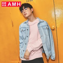 AMH韩版男装2018秋装新款牛仔情侣青年潮流宽松夹克NQ7515菰