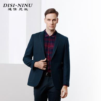 迪仕尼奴秋冬重磅设计男士西装外套加厚顺滑柔软修身外套商务休闲8096W