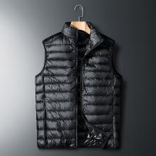 秋冬季新款白鸭绒马甲男士轻薄羽绒服背心青年坎肩无袖短款外套潮FNM-A8705