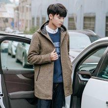 风衣男冬季新款中长款帅气学生韩版修身男士呢子衣毛呢外套ZX-8812
