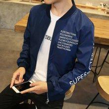 史克维斯男装韩版秋季休闲男士棒球服潮超薄款夹克外套青少年修身J29
