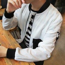 史克维斯秋季新品男士外套夹克男青年薄款男装修身棒球衫外衣J28