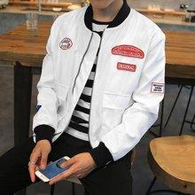 史克维斯男士新款秋装 男士夹克青年薄外套 潮 韩版男装夹克 男J38