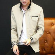 史克维斯外套男春季新款潮流男士夹克衫韩版修身水洗纯棉夹克青年HXJ8803