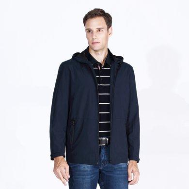 迪仕尼奴 秋冬新款男士外套夾克 連帽休閑外衣韓版修身男上衣茄克0086