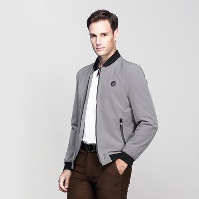 迪仕尼奴 秋冬中年男士夾克商務休閑外套 立領茄克上衣純色爸爸裝0088