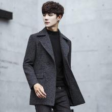搭歌2018新款短款港风bf冬季外套韩版潮流学生加厚毛呢男装nf07da082