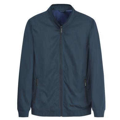 迪仕尼奴秋冬新品男士防风夹克薄款纯色立领风衣外套商务休闲百搭8397C