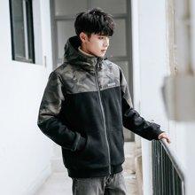外套男韩版2018新款加绒加厚夹克男士风衣帅气男装秋冬季棉袄潮流ZX-866