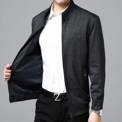搭歌男士夾克2019春季新品休閑立領男裝外套百搭款上衣YT1628-8358