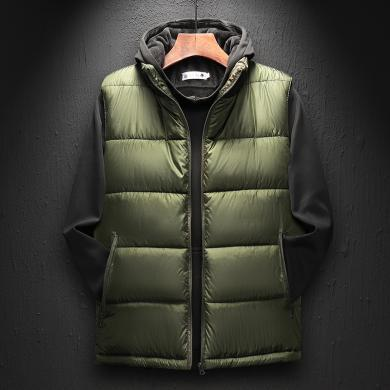 夾克男士休閑外套風衣馬甲男士秋冬季棉背心加厚保暖韓版潮流無袖外套馬夾男裝坎肩大碼夾克ZL-MS991