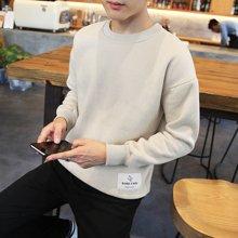 史克维斯男装卫衣圆领套头纯色卫服男士青年韩版休闲新款潮ZY12