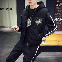 冬季男士加厚三件套休闲马甲套装韩版潮流帅气青少年学生RK-STZ08
