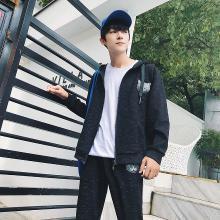 男生卫衣韩版潮流男学生宽松青少年运动套装秋季连帽开衫两件套RK-862