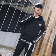 新款秋季卫衣套装男士连帽套头青少年休闲运动学生宽松外套男RK-826A