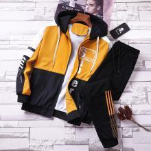 2019春季两件套新款休闲套装男士韩版修身帅气夹克男潮青年上衣服GT-Z1901