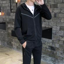 男士外套开衫衣服春季运动套装男装休闲春装2019新款运动服潮流AP-9163