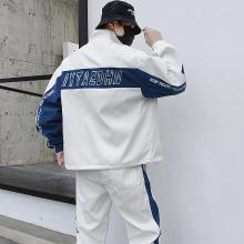 搭歌2019新款韩版潮流男士卫衣嘻哈男式休闲套装潮流运动服嘻哈外套男CMDA102DS367